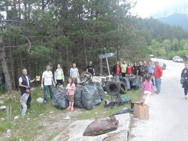 Πετυχημένη η δράση εθελοντικού καθαρισμού στα Τζουμέρκα.